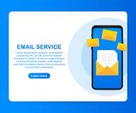 Отправьте маркетинговую кампанию по электронной почте, маркетинг информационого бюллетеня, маркетинг потека также вектор иллюстра бесплатная иллюстрация