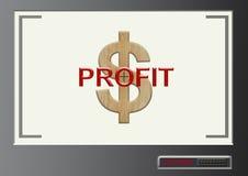 Отправьте СМС выгода с символом доллара в экране цели запертом в современном Стоковые Изображения RF