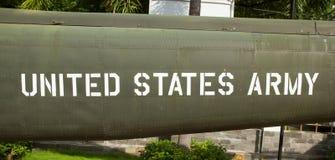 Отправьте СМС на старом самолете война США против Демократической Республики Вьетнам показанном в Сайгоне Стоковое фото RF