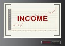 Отправьте СМС доход с символом диаграммы и доллара в современном st тысячелетия Стоковые Изображения RF