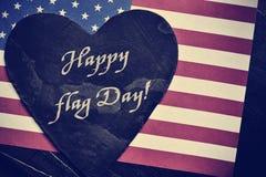 Отправьте СМС счастливый День флага и флаг Соединенных Штатов Стоковые Изображения RF