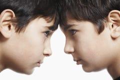 Отпрыски с на равных против белой предпосылки Стоковые Изображения RF