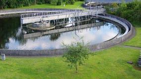 отработанная вода обработки Стоковая Фотография
