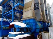 Отработанные вентиляторы и котельный газ пре-решетки Стоковое Изображение