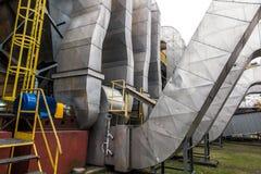 Отработанные вентиляторы управляемые электрическими двигателями Стоковое Изображение RF
