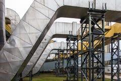 Отработанные вентиляторы управляемые электрическими двигателями Стоковое Изображение