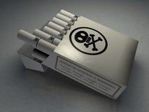 отрава сигарет иллюстрация вектора