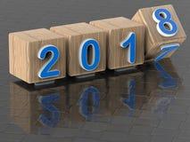 Отражательная концепция 2017 до 2018 переходов Стоковое фото RF