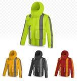 Отражательная куртка на прозрачной предпосылке иллюстрация вектора