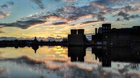 Отражая небо в воде Стоковая Фотография