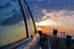 Отражение автомобиля Стоковые Изображения