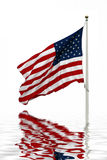 отражение американского флага Стоковые Фото