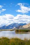 Отражение ландшафта пейзажа плато Стоковые Изображения