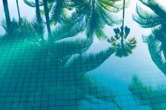 Отражение бассейна Стоковое фото RF