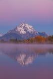 Отражение восхода солнца падения Teton Стоковое фото RF