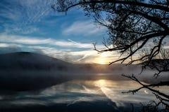 Отражение восхода солнца Стоковые Изображения RF