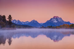 Отражение восхода солнца Teton Стоковое Изображение