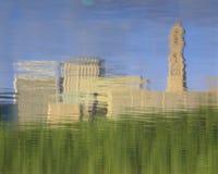 Отражение в воде Hartford, горизонта CT стоковое изображение