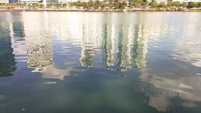 Отражение в озере сток-видео