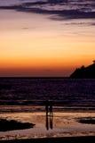 отражение в пляже в солнце Стоковое Изображение