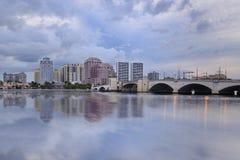Отражение горизонта West Palm Beach Стоковая Фотография RF