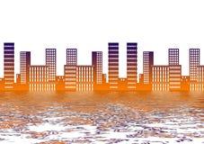 Отражение города стоковое фото