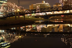 отражение городского пейзажа Стоковое фото RF