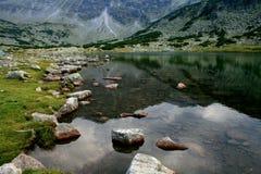 отражение горы озера стоковые фото