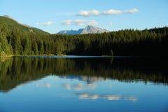отражение горы озера Стоковое фото RF