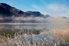 отражение горы озера alps сценарное Стоковая Фотография RF
