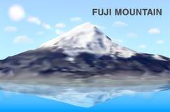 Отражение горы Фудзи на векторе eps10 воды Стоковые Фото