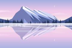 Отражение гор в озере Стоковое Изображение RF