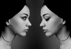отражение девушок Стоковые Изображения RF