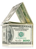 отражение дома доллара Стоковое Изображение RF