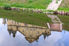 Отражение заводов и структур в воде Стоковые Изображения RF