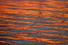 Отражение захода солнца стоковое фото rf