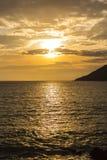 Отражение захода солнца Стоковая Фотография