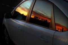 Отражение захода солнца Стоковая Фотография RF