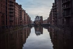 Отражение классик Гамбурга Стоковые Изображения RF