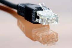 отражение компьютера кабеля Стоковое фото RF