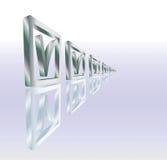 отражение контрольного списка Стоковая Фотография