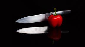 Отражение красного перца Стоковые Фотографии RF