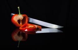 Отражение красного перца Стоковое Изображение
