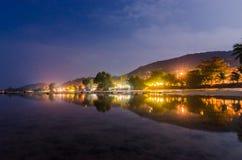 Отражение маленького городка Стоковая Фотография