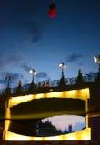 Отражение моста на реке Стоковое Фото