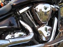 отражение мотоцикла двигателя Стоковые Фотографии RF