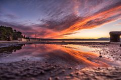 Отражение на воде Стоковое Фото