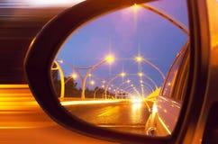 Отражение на зеркале автомобиля Стоковая Фотография RF