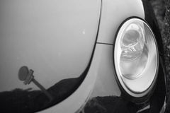 Отражение на клобука автомобиля Стоковое Изображение