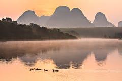 Отражение на озере Стоковое фото RF